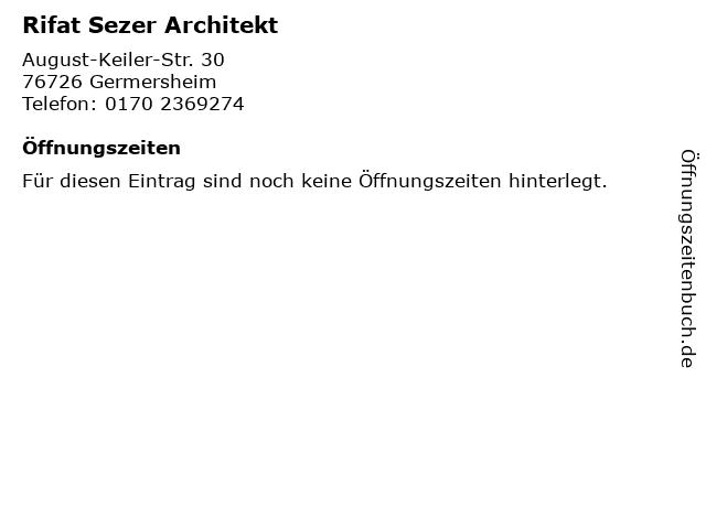Rifat Sezer Architekt in Germersheim: Adresse und Öffnungszeiten