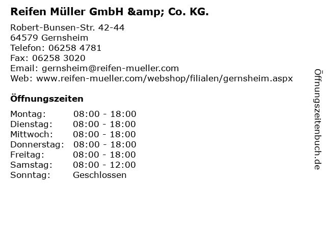 Reifen Müller GmbH & Co. KG. in Gernsheim: Adresse und Öffnungszeiten