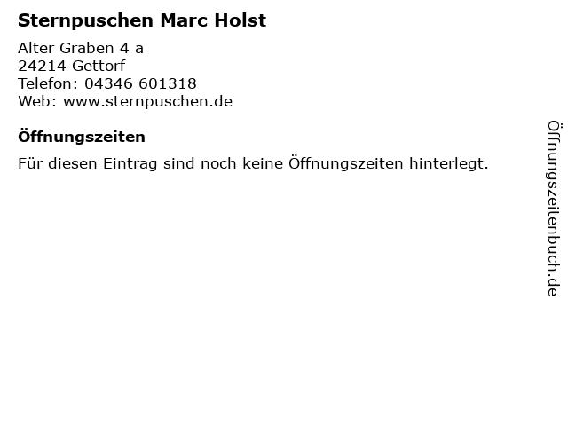 Sternpuschen Marc Holst in Gettorf: Adresse und Öffnungszeiten