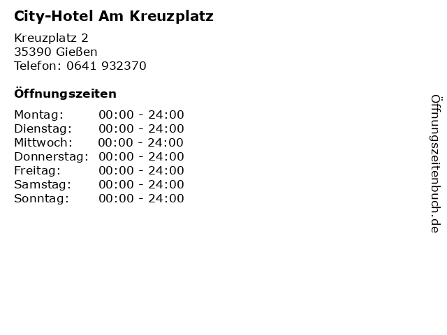 City-Hotel Am Kreuzplatz in Gießen: Adresse und Öffnungszeiten