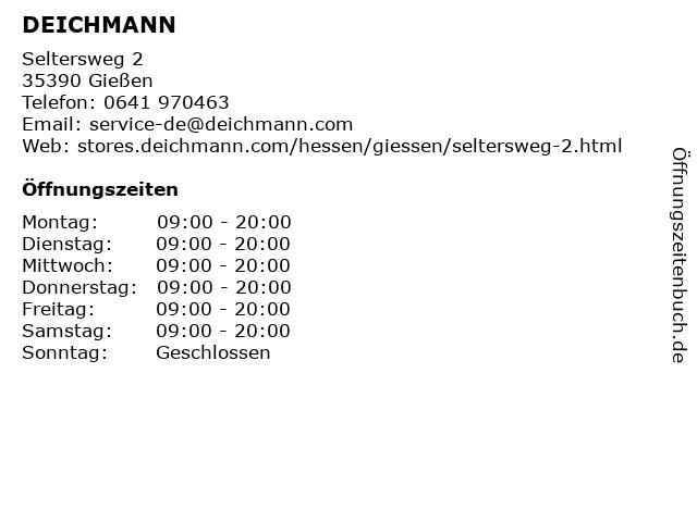 Deichmann-Schuhe in Gießen: Adresse und Öffnungszeiten