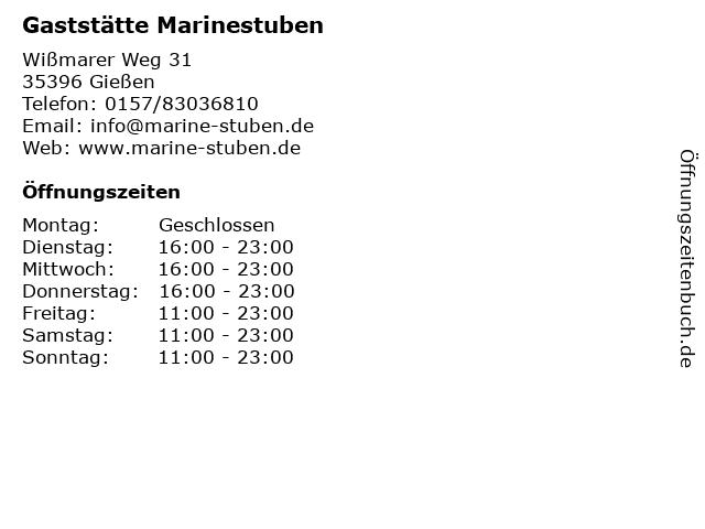 Gaststätte Marinestuben in Gießen: Adresse und Öffnungszeiten