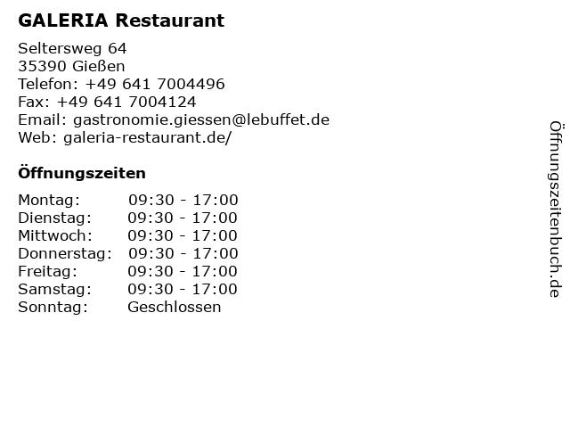 Karstadt Restaurant in Gießen: Adresse und Öffnungszeiten