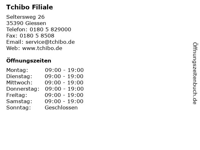 Tchibo Filiale in Giessen: Adresse und Öffnungszeiten