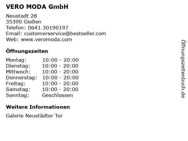 VERO MODA GmbH in Gießen: Adresse und Öffnungszeiten