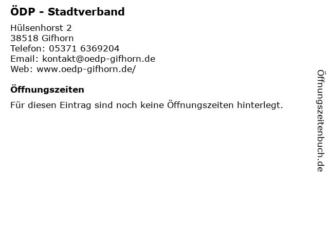 ÖDP - Stadtverband in Gifhorn: Adresse und Öffnungszeiten