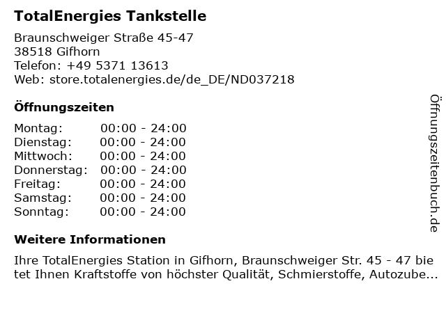 TOTAL Tankstelle in Gifhorn: Adresse und Öffnungszeiten