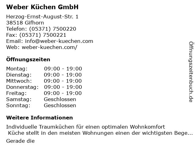 ᐅ Offnungszeiten Weber Kuchen Friedrich Weber Herzog Ernst