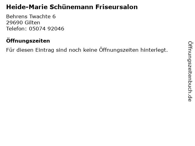 Heide-Marie Schünemann Friseursalon in Gilten: Adresse und Öffnungszeiten