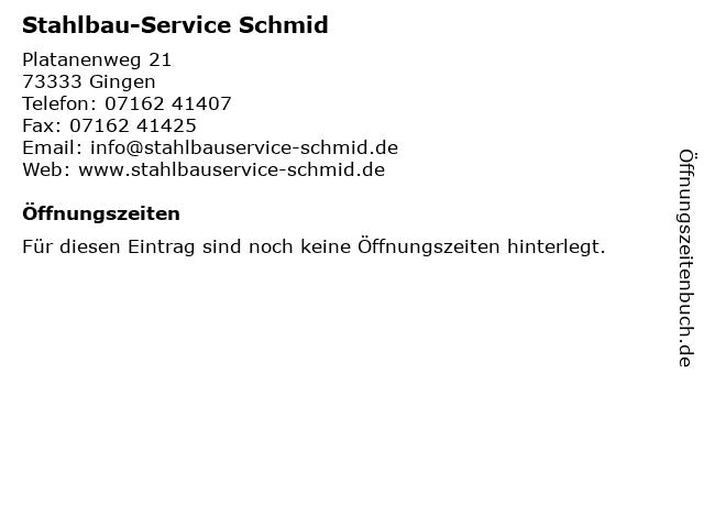 Stahlbau-Service Schmid in Gingen: Adresse und Öffnungszeiten