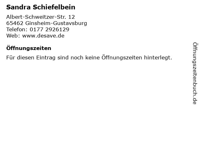Sandra Schiefelbein in Ginsheim-Gustavsburg: Adresse und Öffnungszeiten
