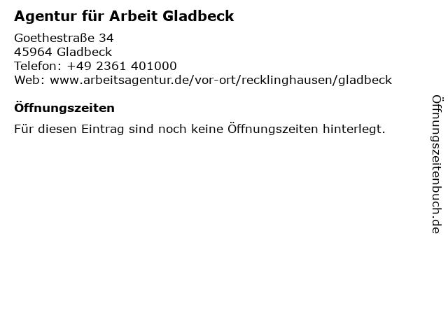 arbeitsagentur gladbeck