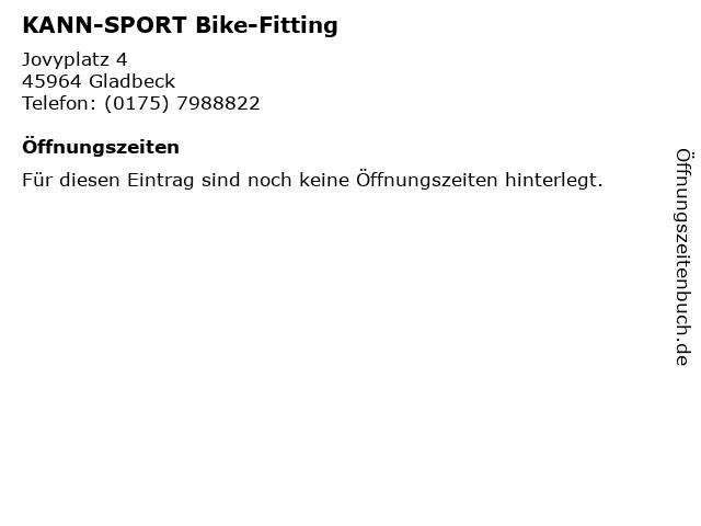 KANN-SPORT Bike-Fitting in Gladbeck: Adresse und Öffnungszeiten