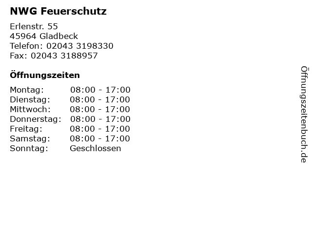 NWG Feuerschutz in Gladbeck: Adresse und Öffnungszeiten