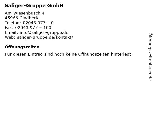 Saliger-Gruppe GmbH in Gladbeck: Adresse und Öffnungszeiten