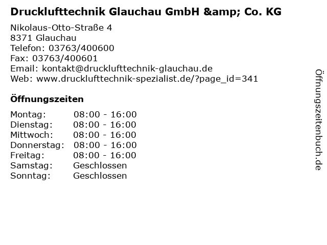 Drucklufttechnik Glauchau GmbH & Co. KG in Glauchau: Adresse und Öffnungszeiten