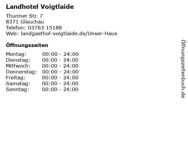 Landhotel Voigtlaide in Glauchau: Adresse und Öffnungszeiten