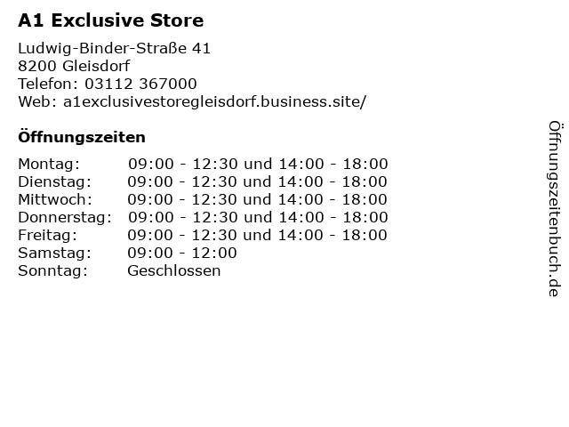 A1 Exclusive Store in Gleisdorf: Adresse und Öffnungszeiten
