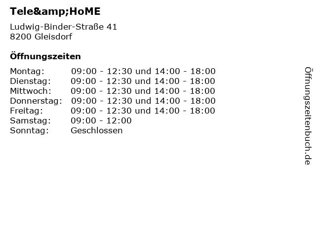Tele&HoME in Gleisdorf: Adresse und Öffnungszeiten