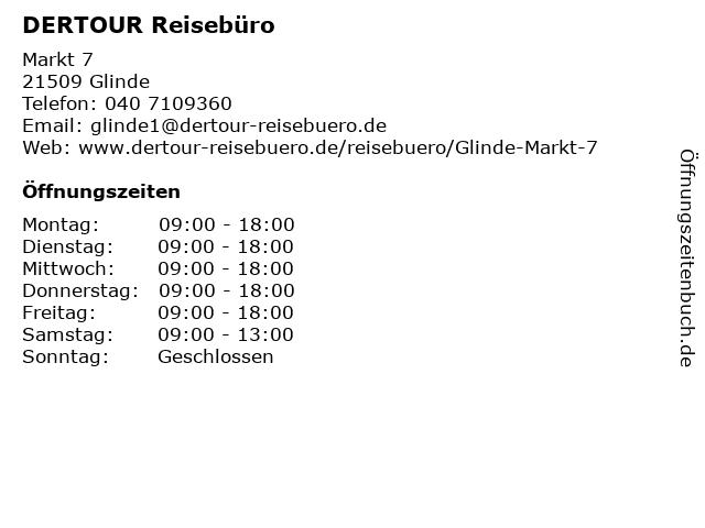 DER Deutsches Reisebüro in Glinde: Adresse und Öffnungszeiten