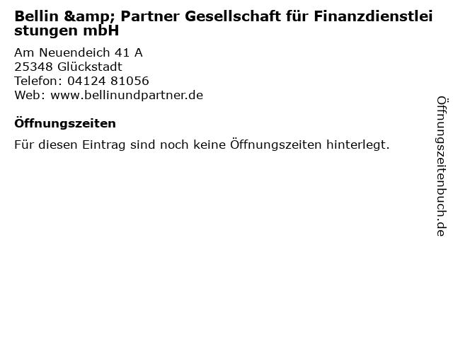 Bellin & Partner Gesellschaft für Finanzdienstleistungen mbH in Glückstadt: Adresse und Öffnungszeiten