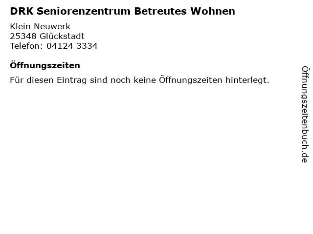 DRK Seniorenzentrum Betreutes Wohnen in Glückstadt: Adresse und Öffnungszeiten