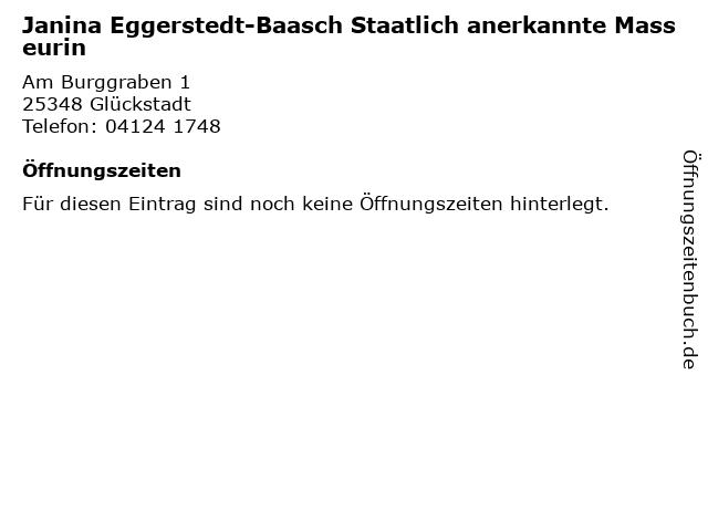 Janina Eggerstedt-Baasch Staatlich anerkannte Masseurin in Glückstadt: Adresse und Öffnungszeiten