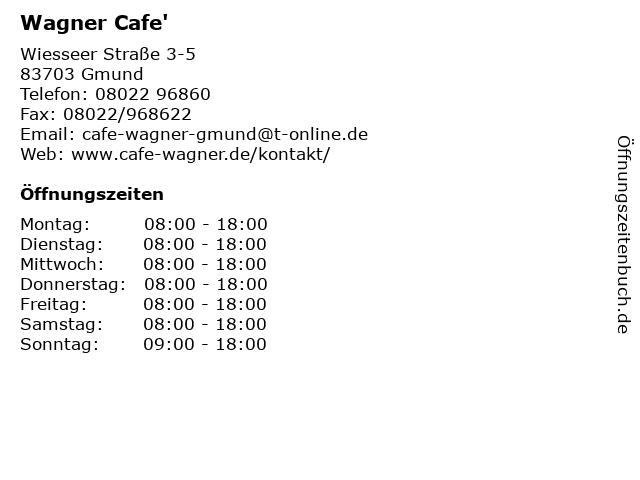 Wagner Cafe' in Gmund: Adresse und Öffnungszeiten