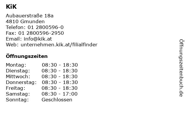 KiK in Gmunden: Adresse und Öffnungszeiten