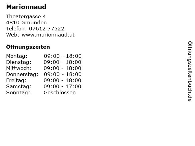 Marionnaud in Gmunden: Adresse und Öffnungszeiten