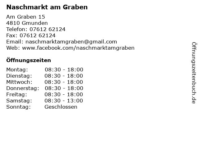 Naschmarkt am Graben in Gmunden: Adresse und Öffnungszeiten