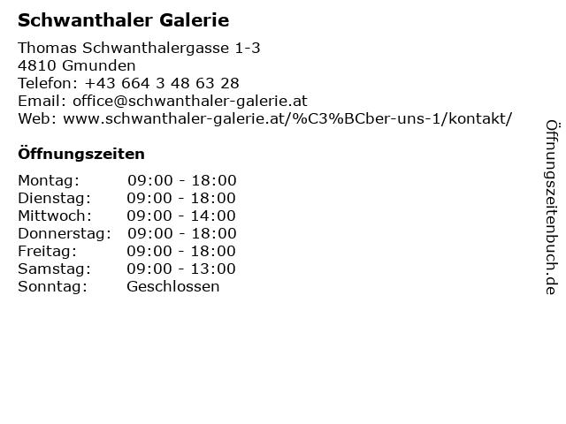 Schwanthaler Galerie in Gmunden: Adresse und Öffnungszeiten