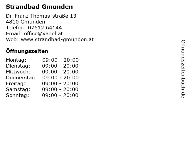 Strandbad Gmunden in Gmunden: Adresse und Öffnungszeiten