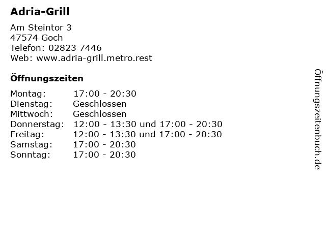 Adria-Grill in Goch: Adresse und Öffnungszeiten