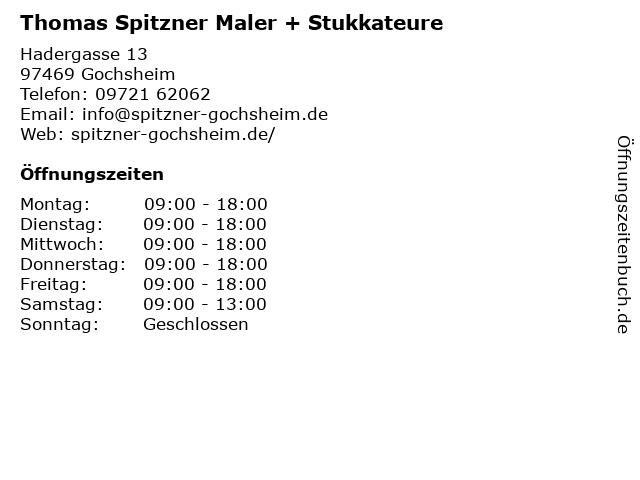 Thomas Spitzner Maler + Stukkateure in Gochsheim: Adresse und Öffnungszeiten