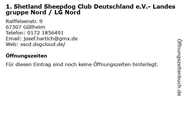 1. Shetland Sheepdog Club Deutschland e.V.- Landesgruppe Nord / LG Nord in Göllheim: Adresse und Öffnungszeiten