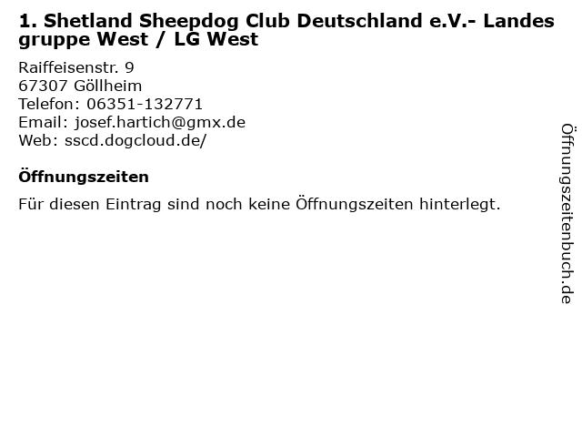 1. Shetland Sheepdog Club Deutschland e.V.- Landesgruppe West / LG West in Göllheim: Adresse und Öffnungszeiten