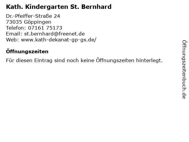 Kath. Kindergarten St. Bernhard in Göppingen: Adresse und Öffnungszeiten