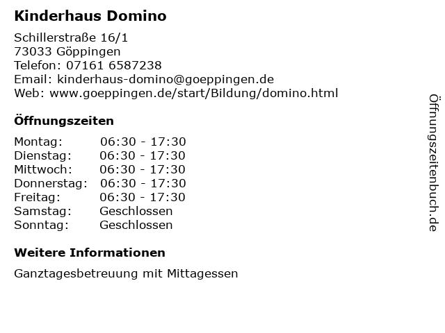 Kinderhaus Domino in Göppingen: Adresse und Öffnungszeiten
