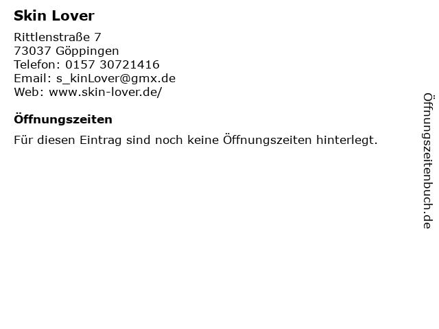 Skin Lover in Göppingen: Adresse und Öffnungszeiten