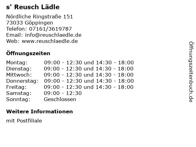 s' Reusch Lädle in Göppingen: Adresse und Öffnungszeiten