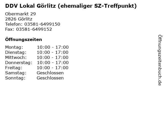 SZ-Treffpunkt in Görlitz: Adresse und Öffnungszeiten