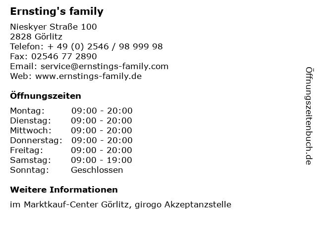 Ernsting's family in Görlitz: Adresse und Öffnungszeiten