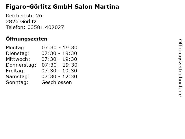 Figaro-Görlitz GmbH Salon Martina in Görlitz: Adresse und Öffnungszeiten