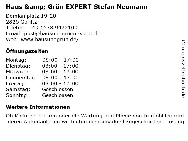Haus & Grün EXPERT Stefan Neumann in Görlitz: Adresse und Öffnungszeiten