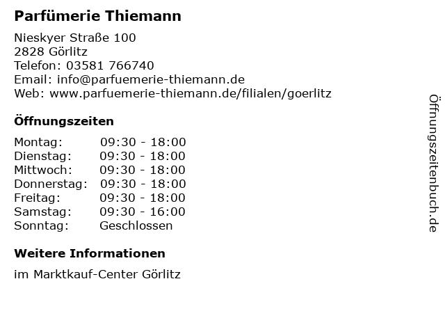 Parfümerie Thiemann in Görlitz: Adresse und Öffnungszeiten