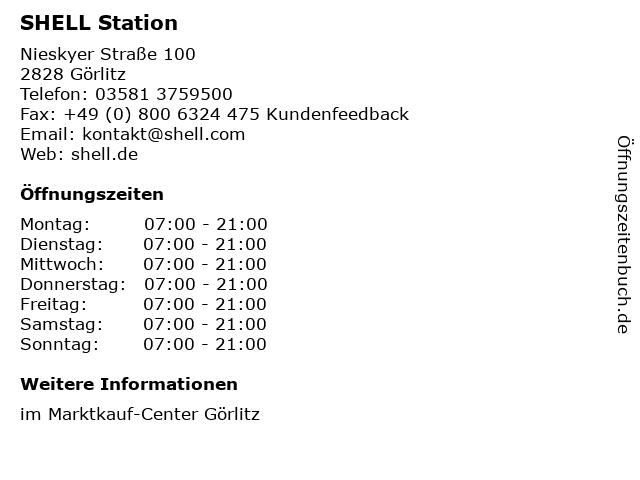 SHELL Station in Görlitz: Adresse und Öffnungszeiten