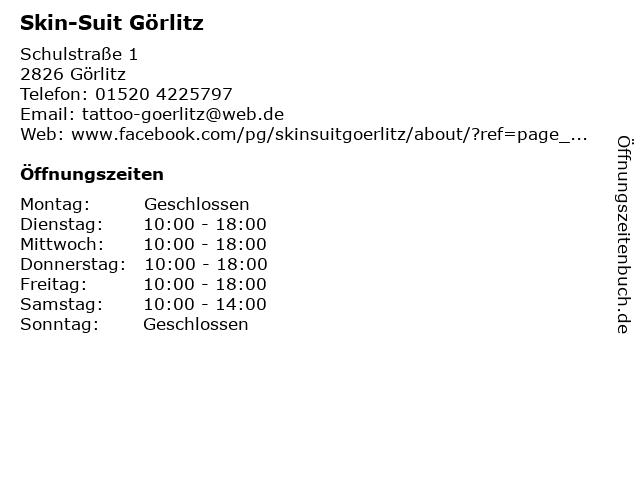 Skin-Suit Görlitz in Görlitz: Adresse und Öffnungszeiten