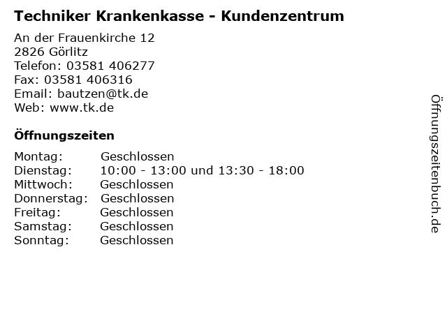 Techniker Krankenkasse - Kundenzentrum in Görlitz: Adresse und Öffnungszeiten
