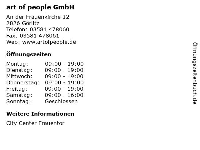 art of people GmbH in Görlitz: Adresse und Öffnungszeiten